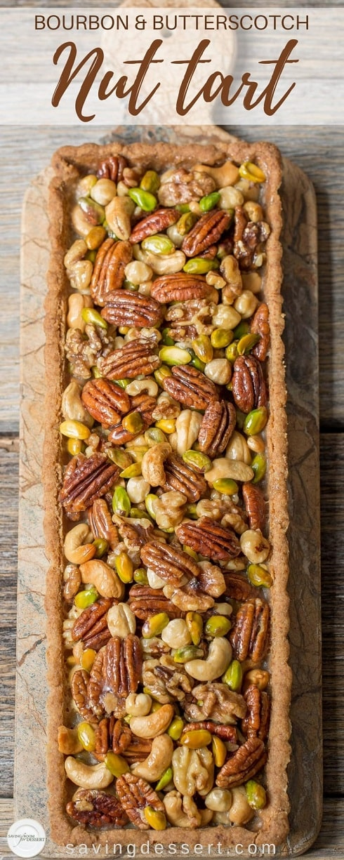 Nut Dessert Recipes: Bourbon and Butterscotch Nut Tart