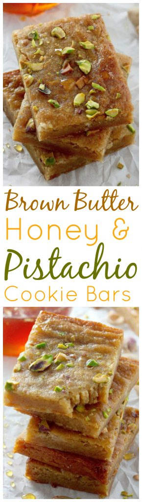 Nut Dessert Recipes: Brown Butter and Honey Pistachio Cookie Bars