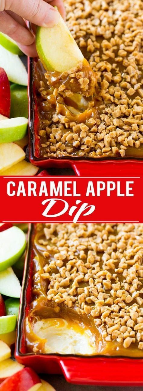 Nut Dessert Recipes: Caramel Apple Dip