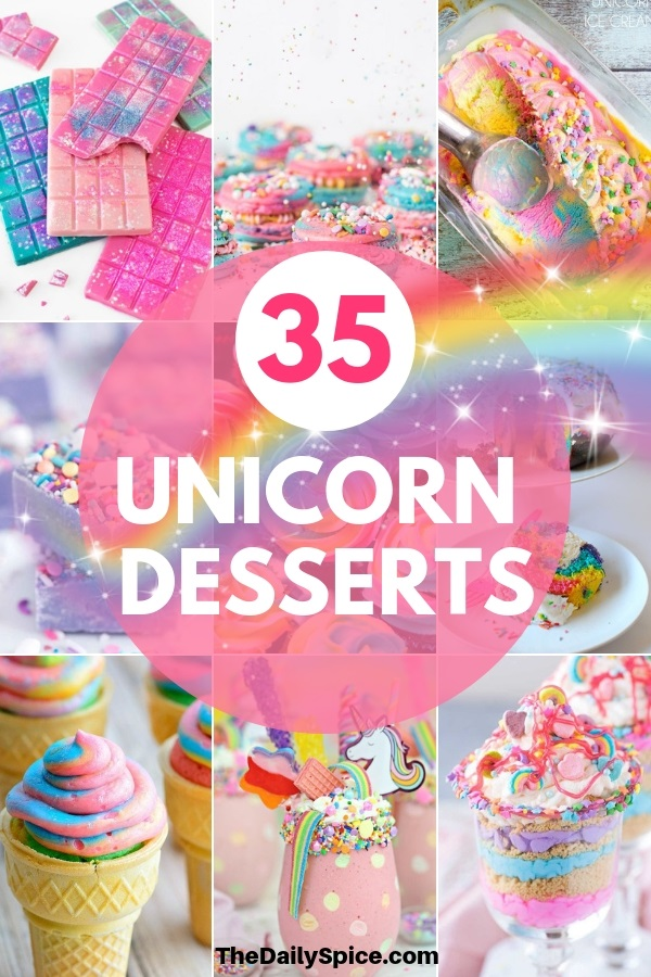 Unicorn Desserts for a unicorn party