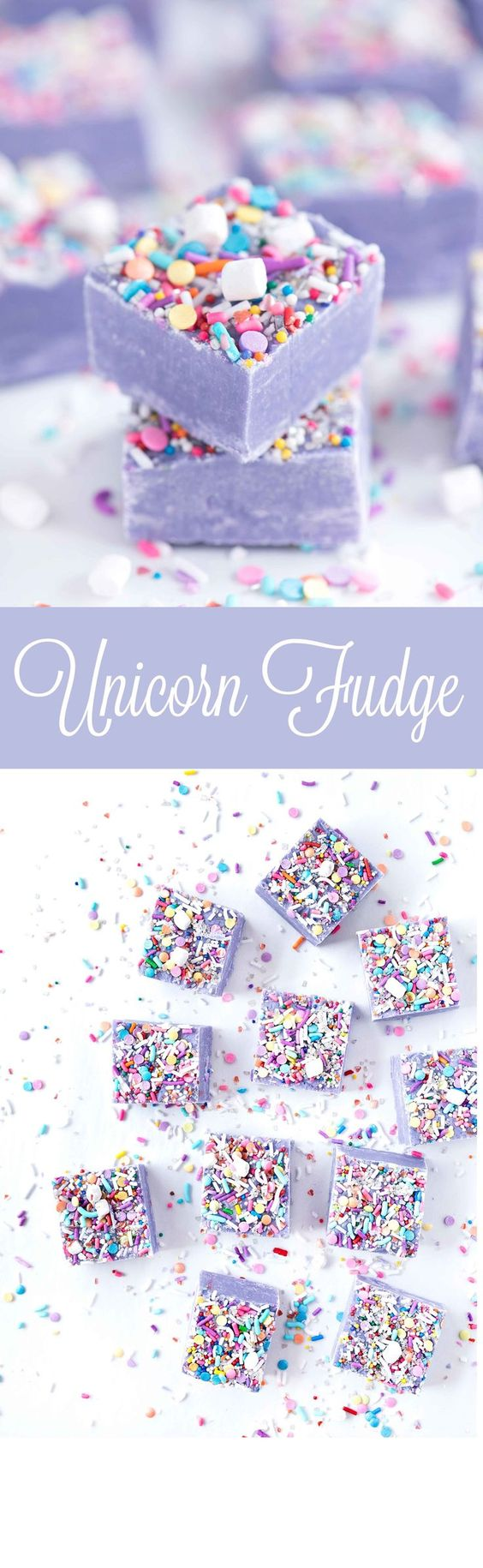 Unicorn desserts for a unicorn party: Unicorn Fudge
