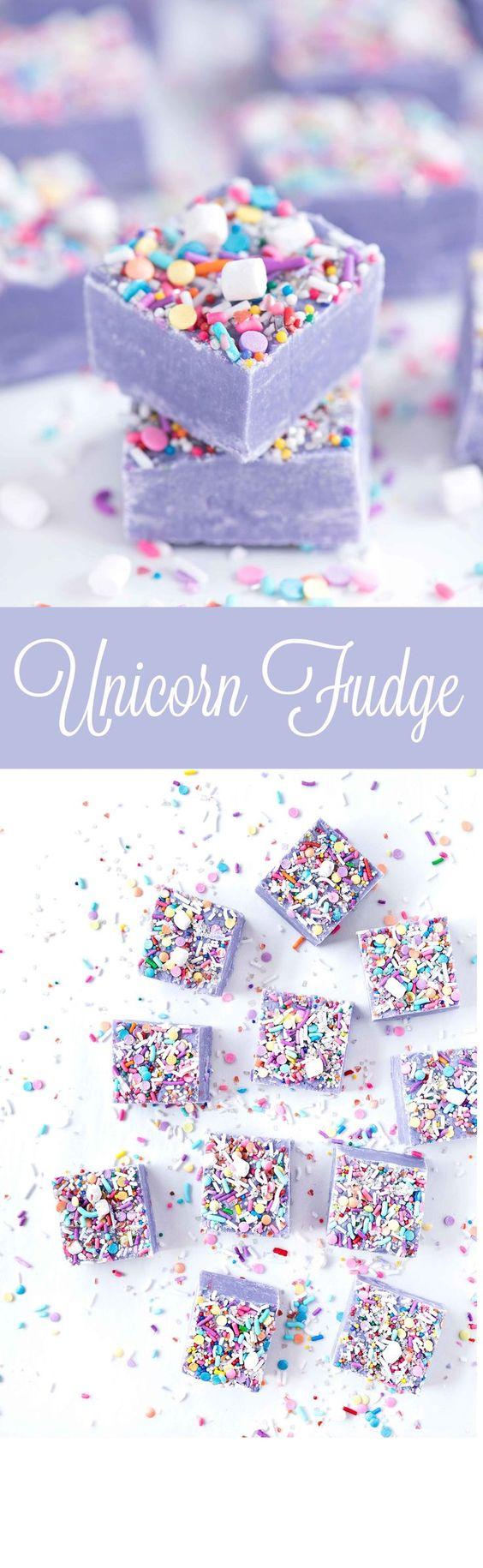 Unicorn desserts for a unicorn party: Unicorn Fudge