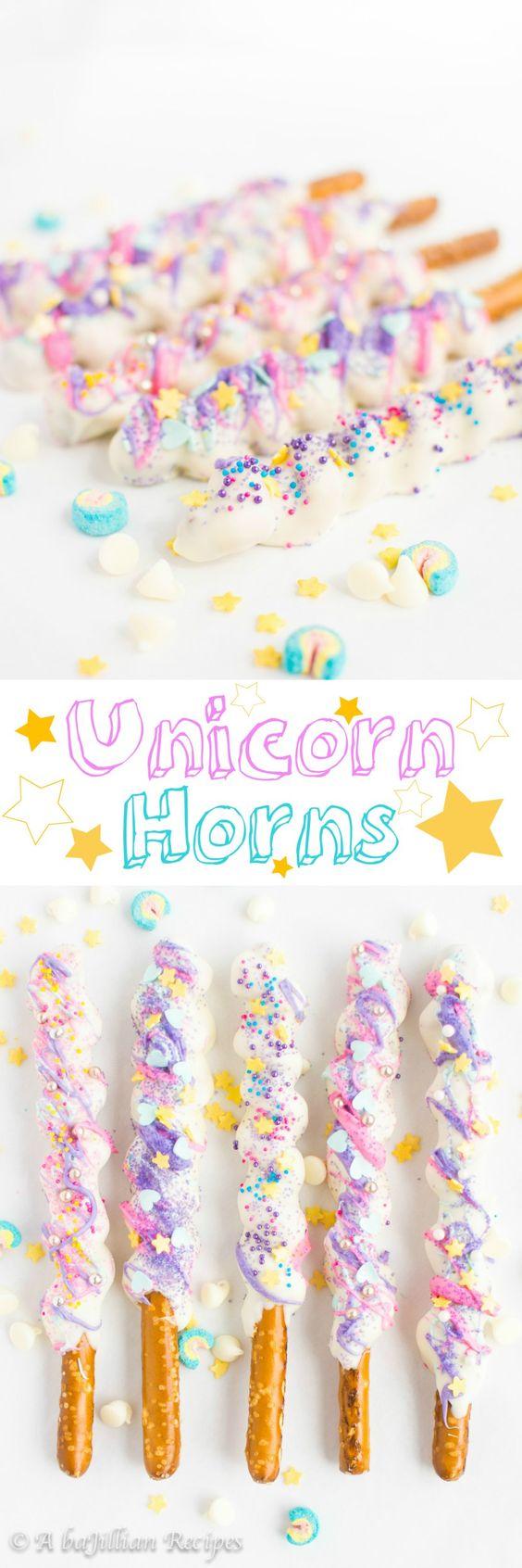 Unicorn desserts for a unicorn party: Unicorn Horns