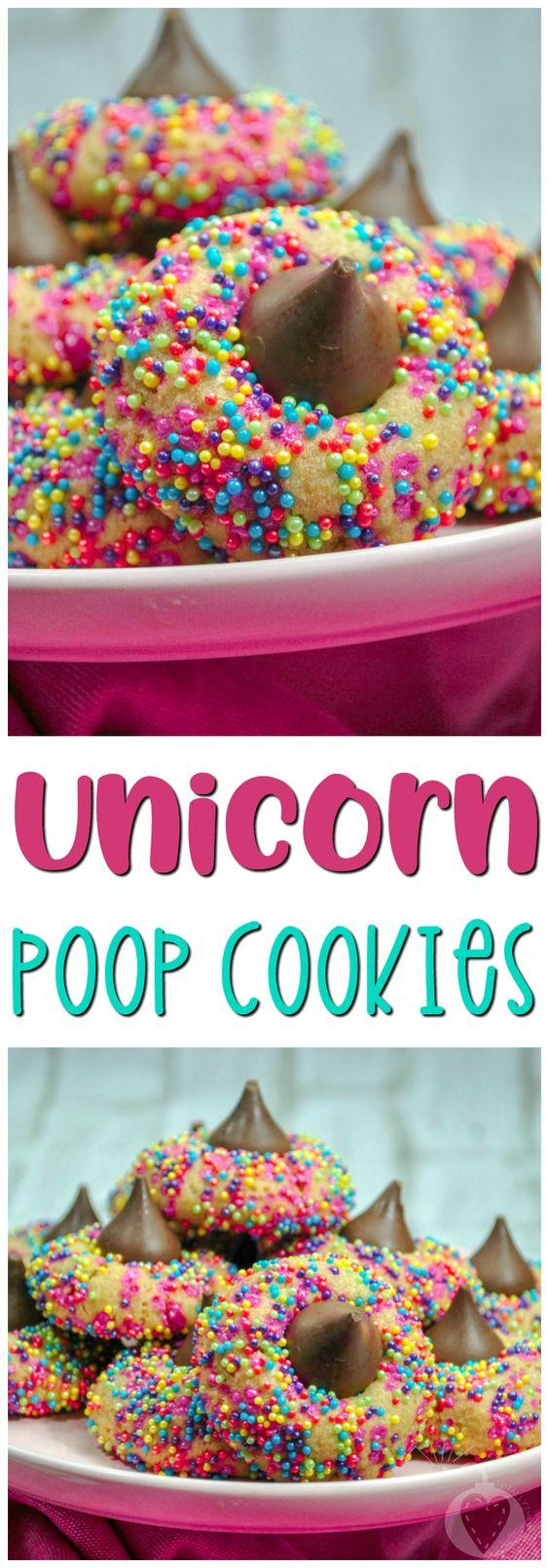 Unicorn desserts for a unicorn party: Unicorn Poop Drop Cookies