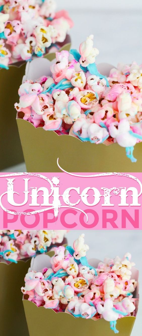Unicorn desserts for a unicorn party: Unicorn Popcorn