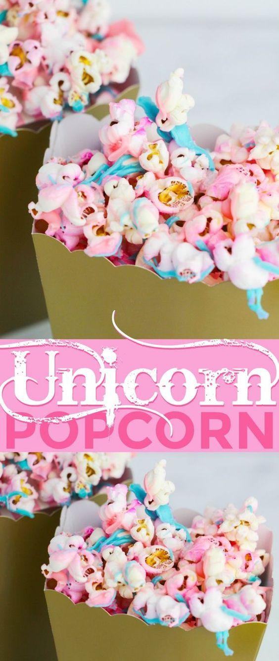 Unicorn desserts for a unicorn party: Unicorn Popcorn