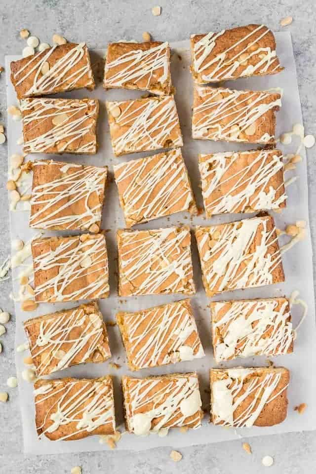 Nut Dessert Recipes: White Chocolate Macadamia Nut Blondies