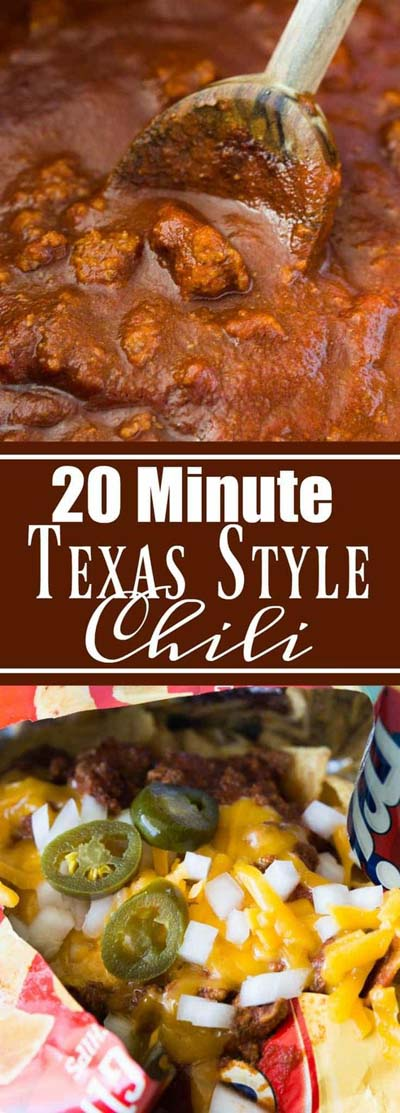 Chili Recipes: 20 Minute Texas Style Chili