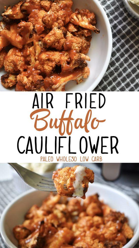 Healthy Air Fryer Recipes: Air Fried Buffalo Cauliflower