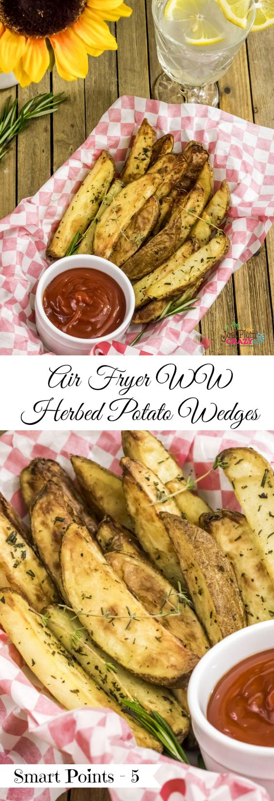Air Fryer Herbed Crispy Skin Potato Wedges