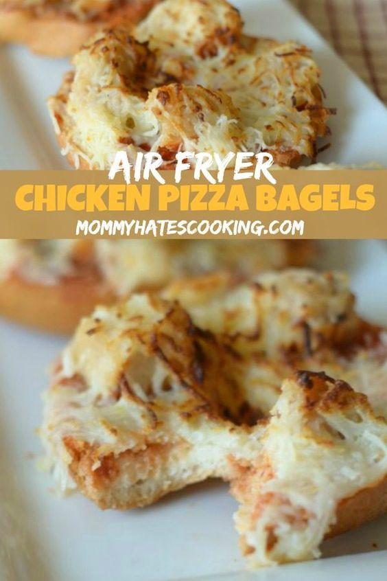 Healthy Air Fryer Recipes: Air Fryer Pizza Bagels