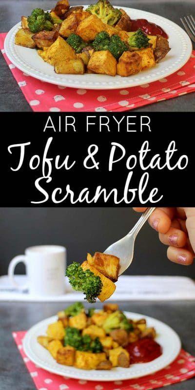 Healthy Air Fryer Recipes: Air Fryer Tofu Scramble