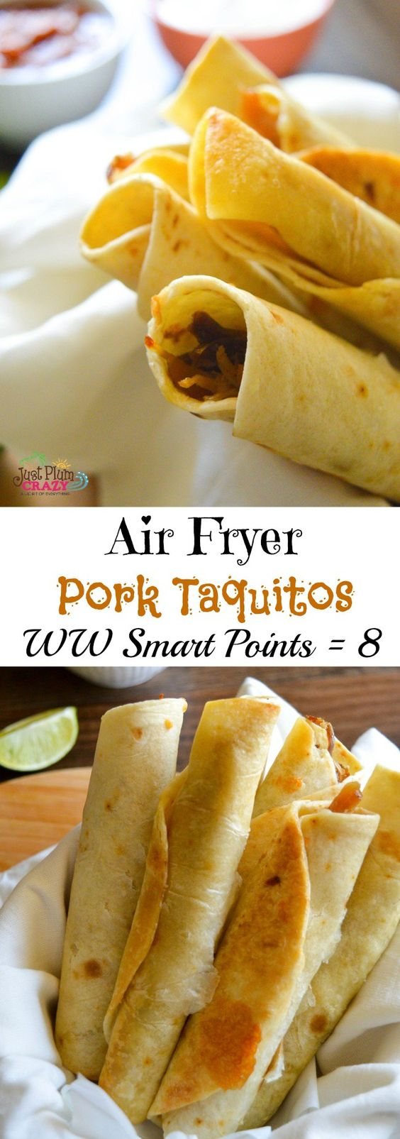 Healthy Air Fryer Recipes: Air Fryer Weight Watchers Pork Taquitos