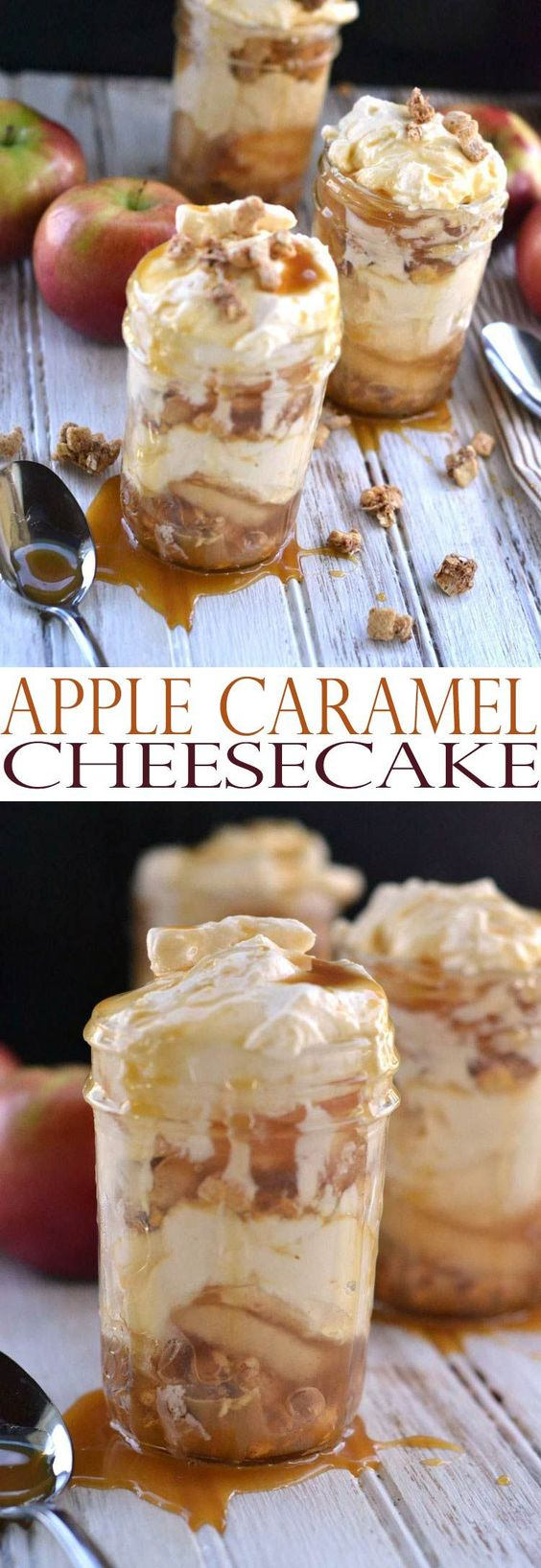 Thanksgiving Desserts: Apple Caramel Cheesecake Recipe