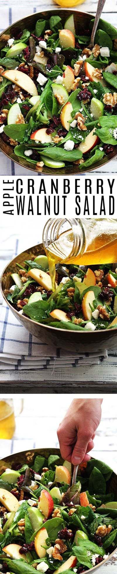 Healthy salad recipes: Apple Cranberry Walnut Salad