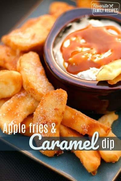 Easy caramel dessert recipes: Apple Fries & Caramel Dip
