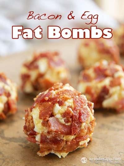Keto snacks on the go: Bacon & Egg Fat Bombs