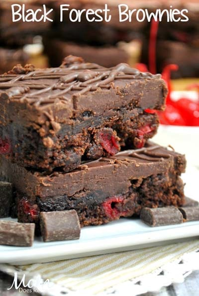 Christmas Brownie Recipes: Black Forest Brownies
