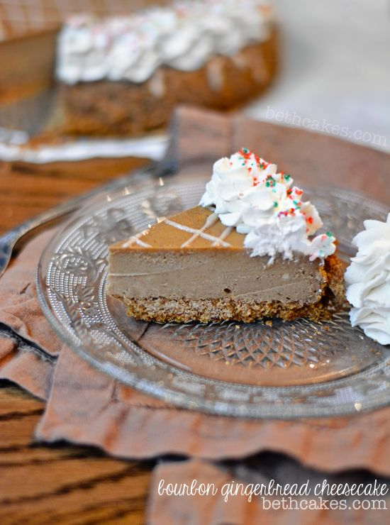 Christmas Gingerbread Recipes: Bourbon Gingerbread Cheesecake