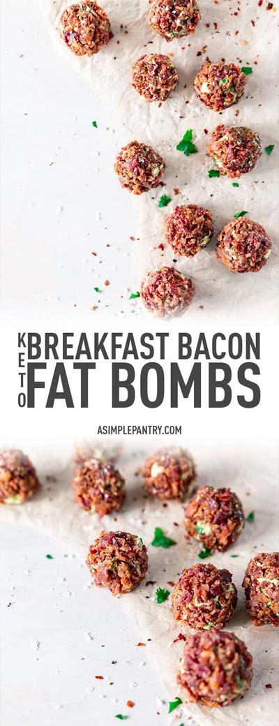 Keto snacks on the go: Breakfast Bacon Fat Bombs