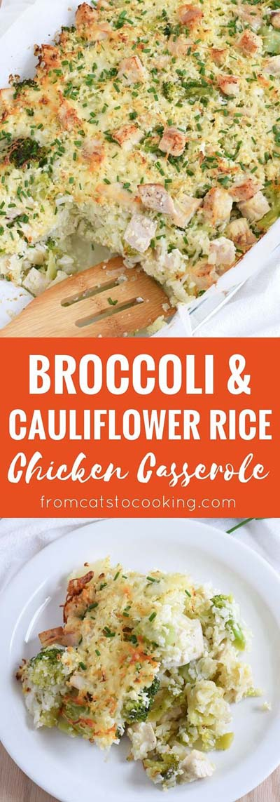 Keto Casserole Recipes: Broccoli Cauliflower Rice Chicken Casserole