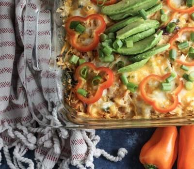 Keto Casserole Recipes: Buffalo Chicken Casserole