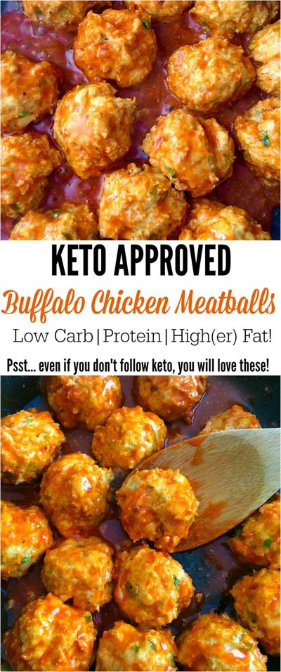 Keto snacks on the go: Buffalo Chicken Meatballs