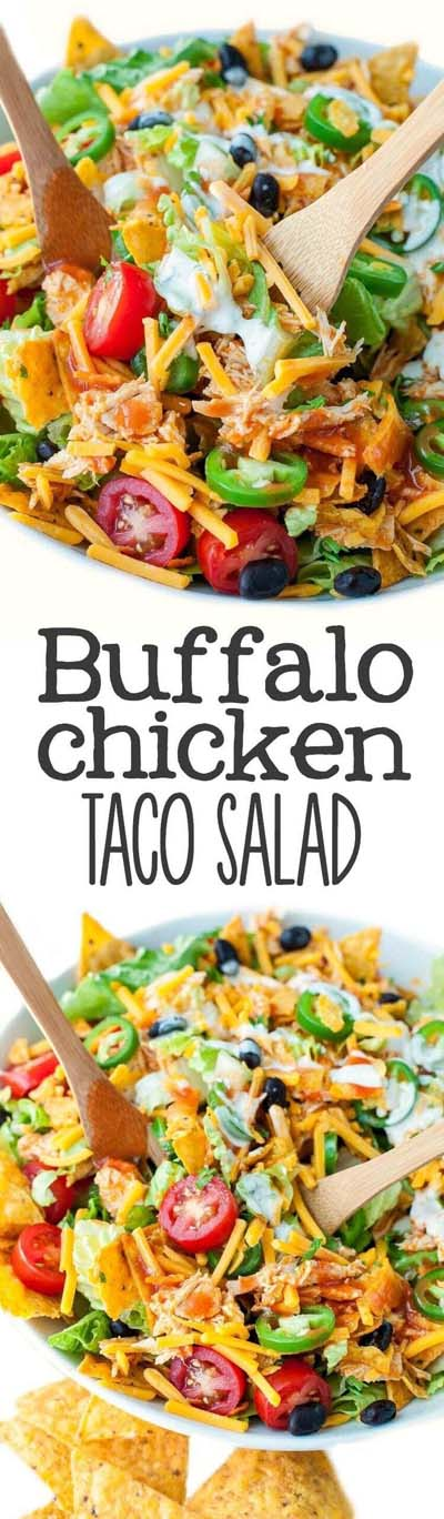Healthy salad recipes: Buffalo Chicken Taco Salad