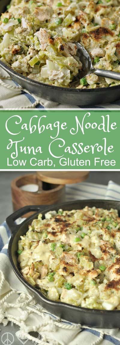 Keto Casserole Recipes: Cabbage Noodle Tuna Casserole