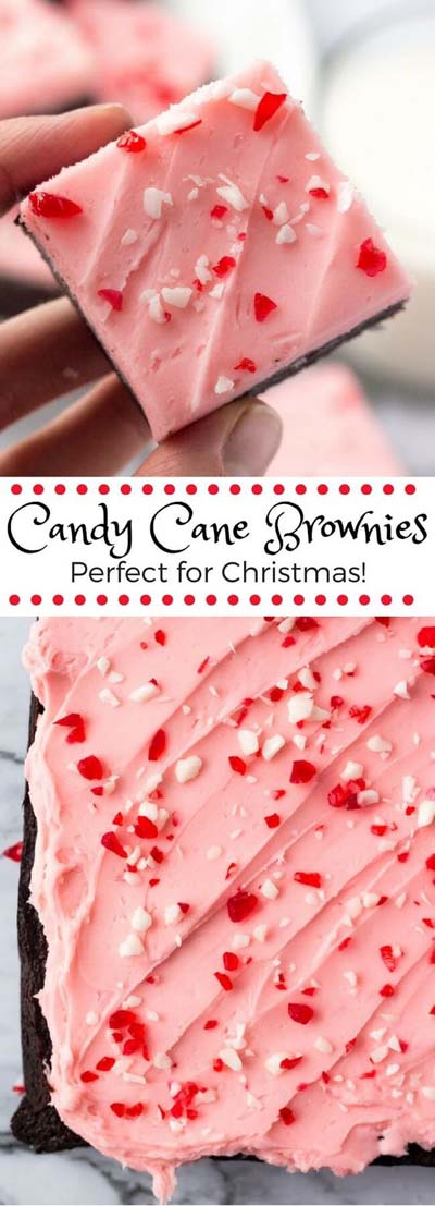 Christmas Brownie Recipes: Candy Cane Brownies
