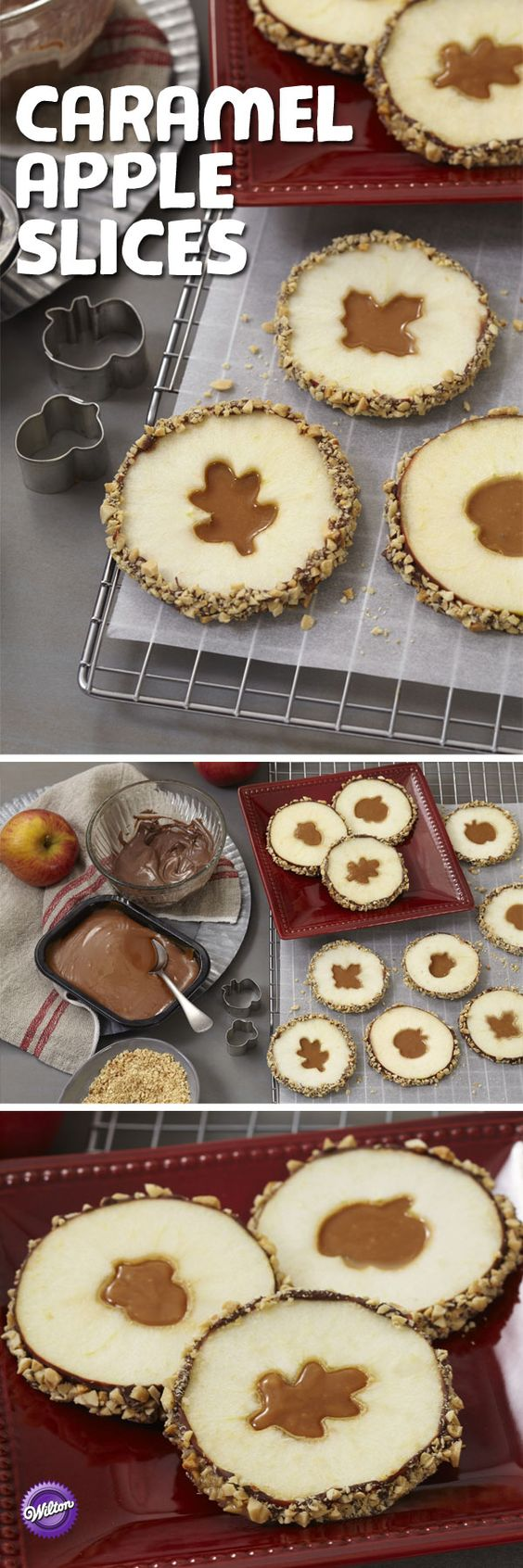 Thanksgiving Desserts: Candy Caramel Apple Slices