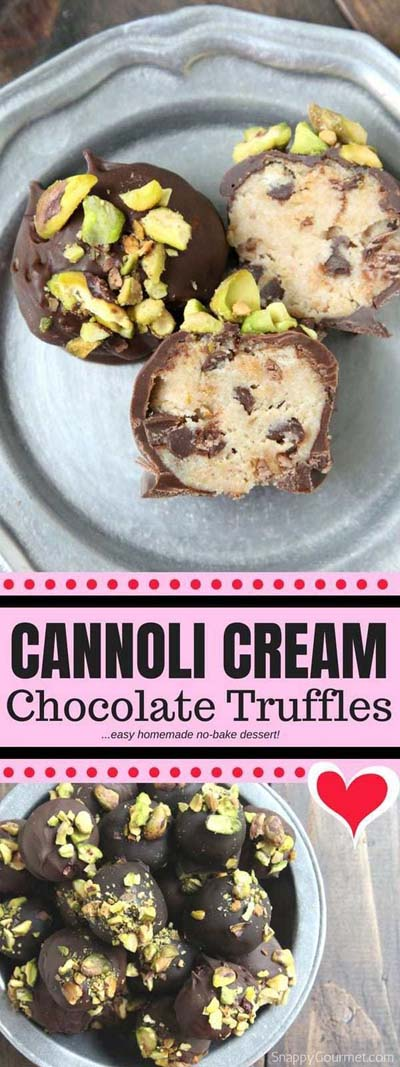 Truffle Dessert Recipes: Cannoli Cream Chocolate Truffles