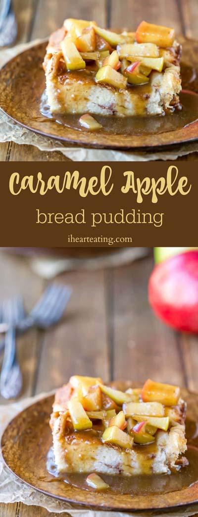 Easy caramel dessert recipes: Caramel Apple Bread Pudding