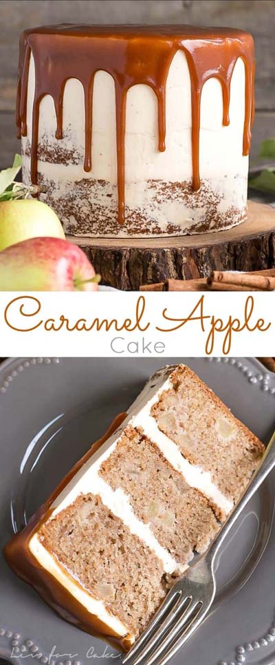 Easy caramel dessert recipes: Caramel Apple Cake