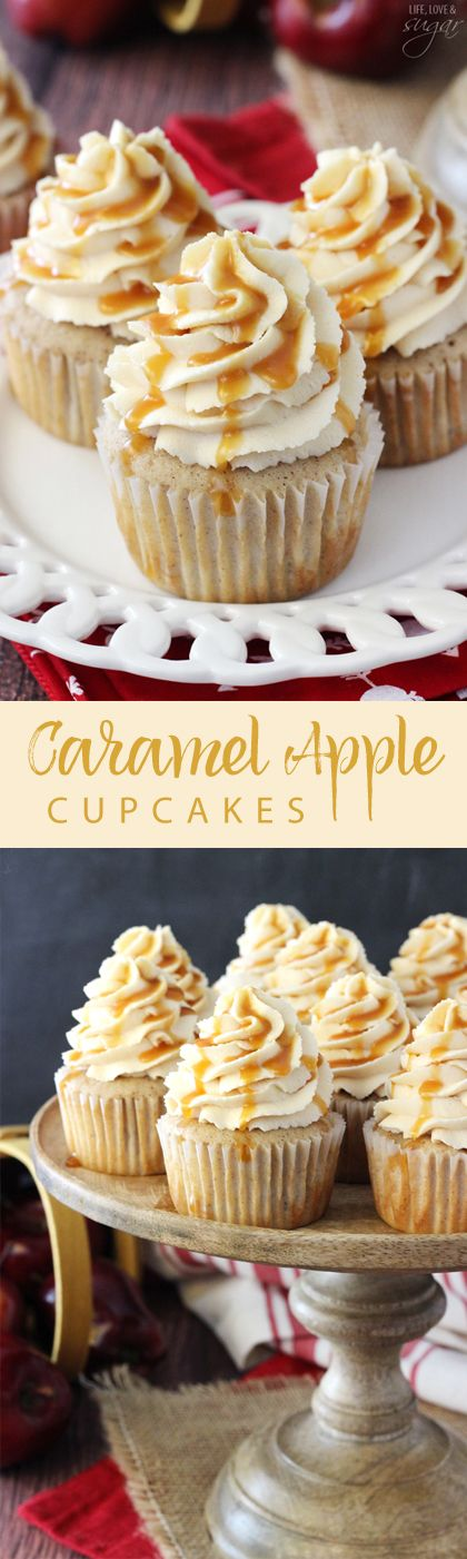 Thanksgiving Desserts: Caramel Apple Cupcakes