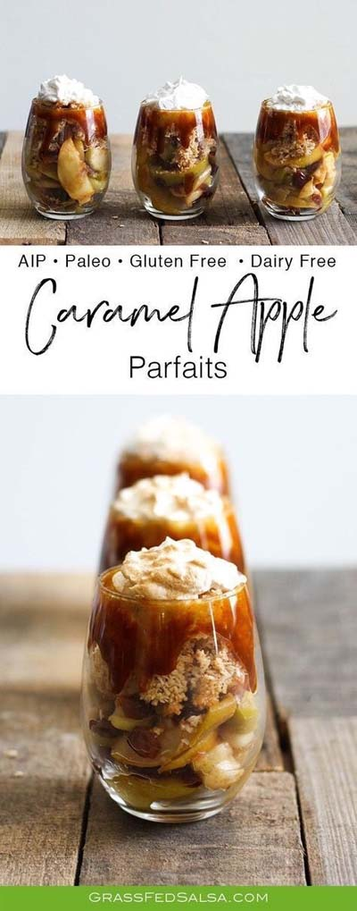 Easy caramel dessert recipes: Caramel Apple Parfaits