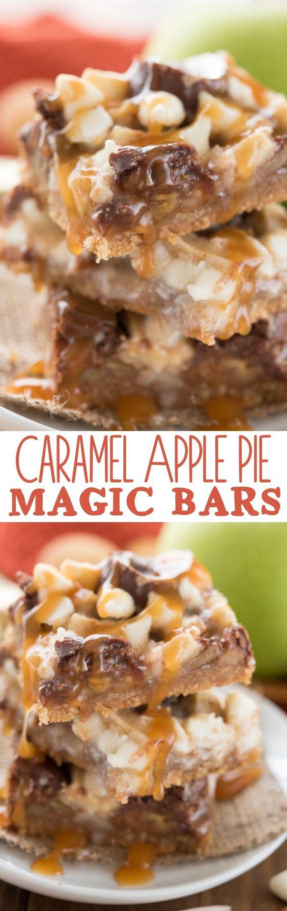Thanksgiving Desserts: Caramel Apple Pie Magic Bars