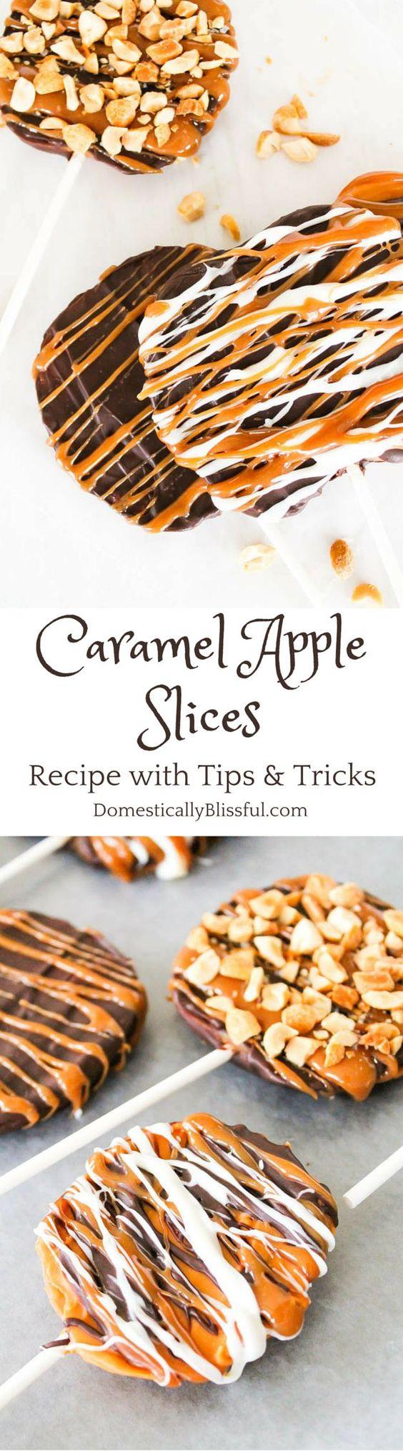Thanksgiving Desserts: Caramel Apple Slices