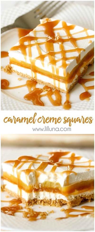 Easy caramel dessert recipes: Caramel Creme Squares