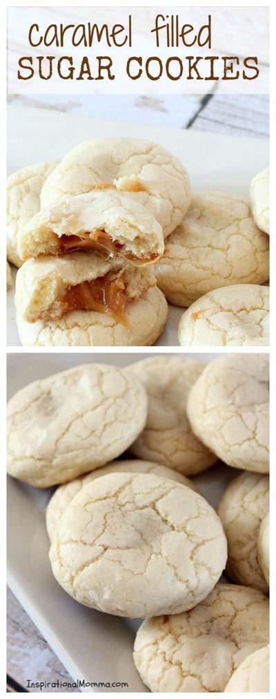 Easy caramel dessert recipes: Caramel Filled Sugar Cookies