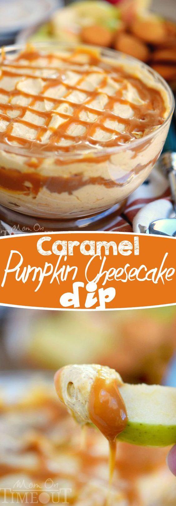 Thanksgiving Desserts: Caramel Pumpkin Cheesecake Dip