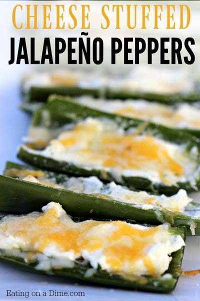 Keto snacks on the go: Cheese Stuffed Jalapeño Peppers