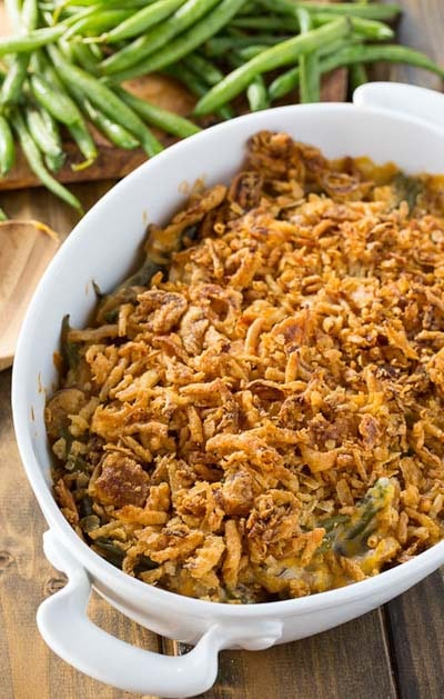 Christmas Dinner Recipes: Cheesy Green Bean Casserole