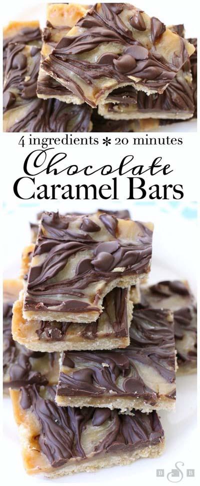 Easy caramel dessert recipes: Chocolate Caramel Bars