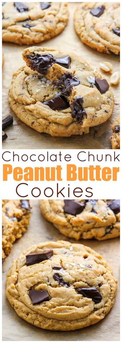 Peanut Butter Desserts: Chocolate Chunk Peanut Butter Cookies