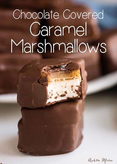 Easy caramel dessert recipes: Chocolate Covered Caramel Marshmallows