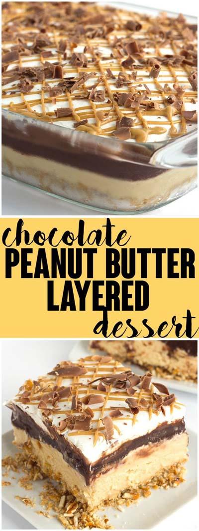 Peanut Butter Desserts: Chocolate Peanut Butter Layer Dessert