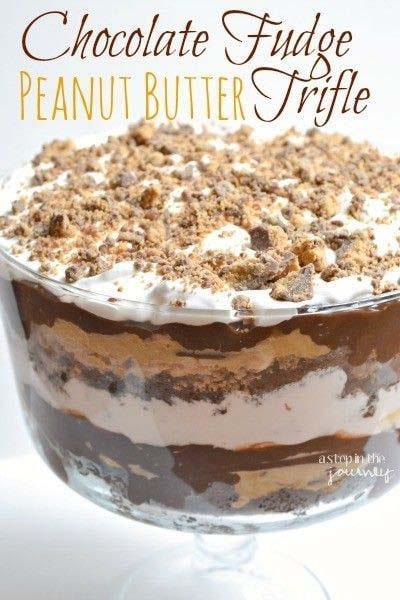 Peanut Butter Desserts: Chocolate Peanut Butter Trifle