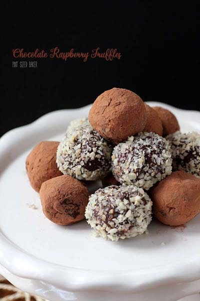 Truffle Dessert Recipes: Chocolate Raspberry Truffles