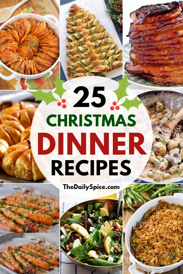 Christmas Dinner Ideas For A Crowd.25 Delicious Christmas Dinner Recipes Dinner Ideas The